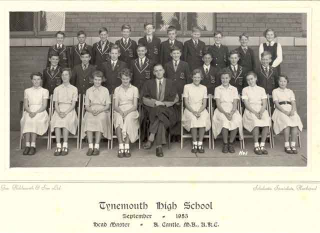 Class photograph - Tynemouth High School September 1955